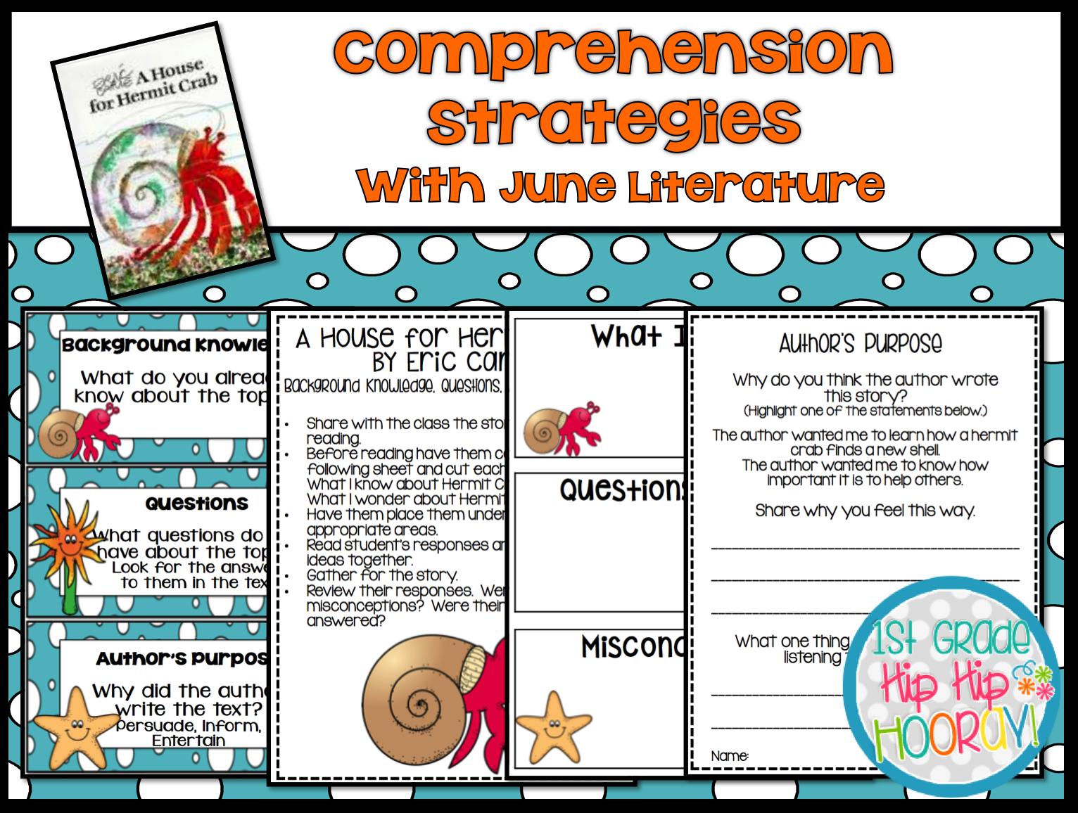 1st Grade Hip Hip Hooray Teaching Comprehension