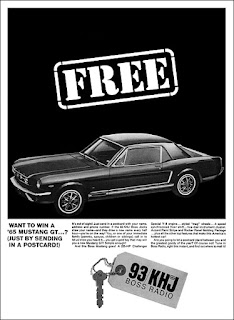 KHJ Boss Mustang Contest Ad