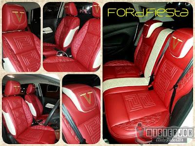 Jok Mobil Ford Fiesta Merah