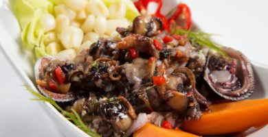 receta ceviche conchas negras