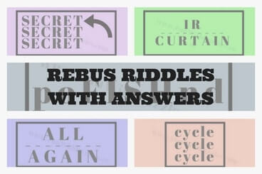 Rebus Riddles with Answers