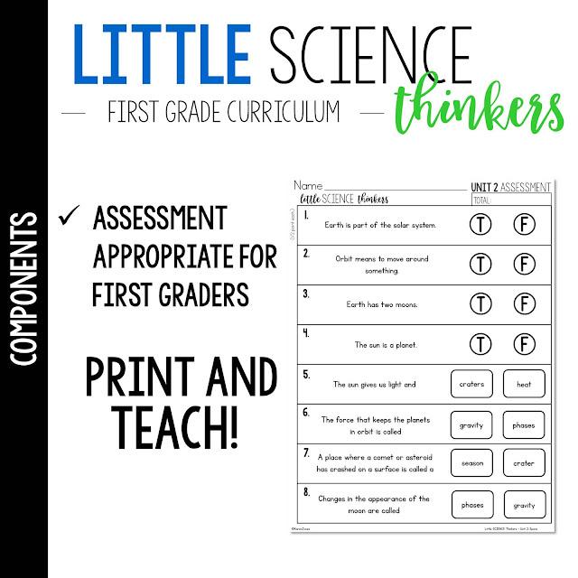 Little 1st Grade SCIENCE Thinkers! (First Grade Science