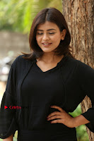 Actress Hebah Patel Stills in Black Mini Dress at Angel Movie Teaser Launch  0049.JPG