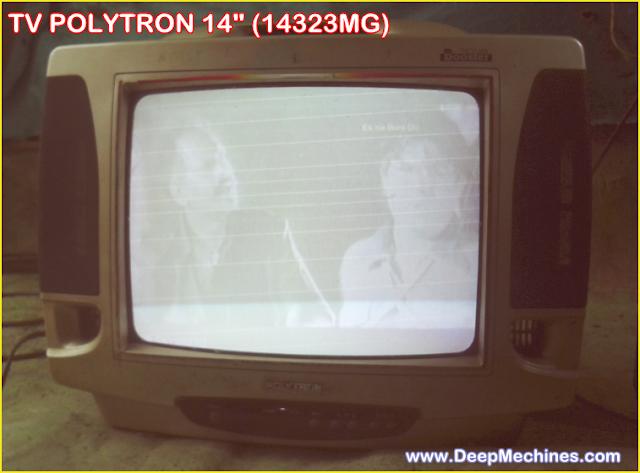 Perbaikan Kerusakan TV Polytron 14-Inc (PN 14323MG) Gambar Muncul Garis Retrace (Blanking)