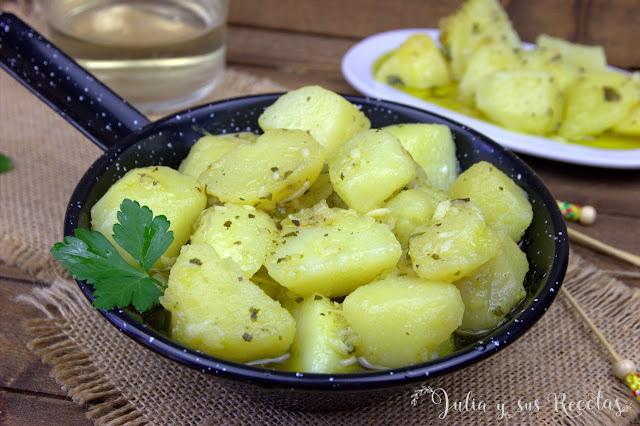 Patatas picantes de Andújar. Julia y sus recetas