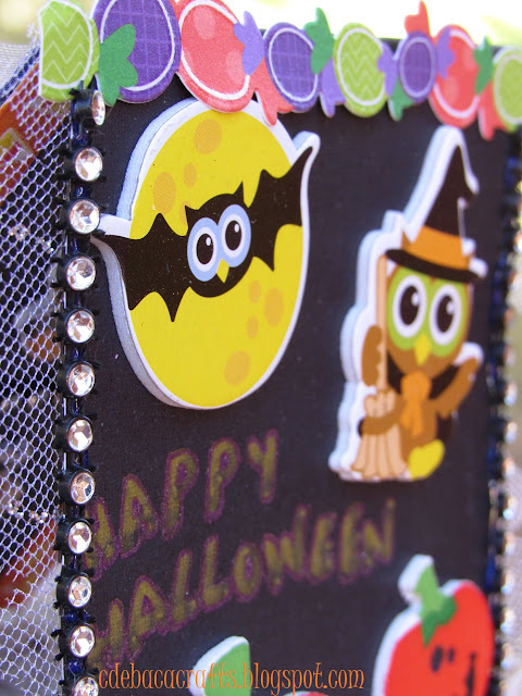 Kid friendly happy halloween card by CdeBaca Crafts.