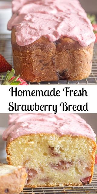 Homemade Fresh Strawberry Bread