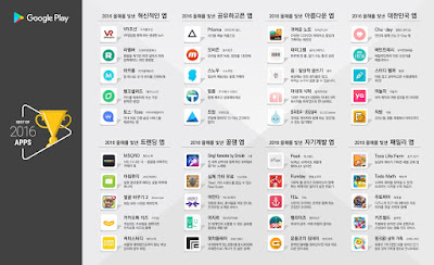 Top apps for Korea 2016