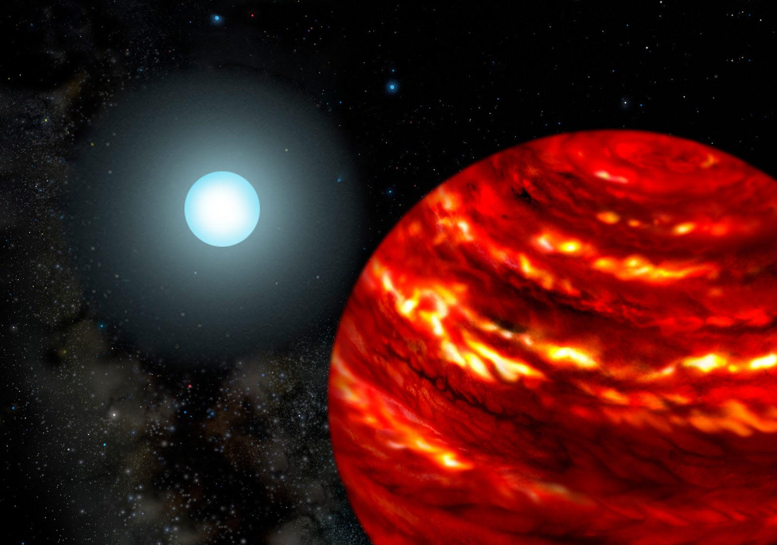 Gas Giant Exoplanets Cling Close To Their Parent Stars