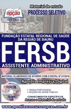 Apostila Assistente Administrativo FERSB Bauru 2018