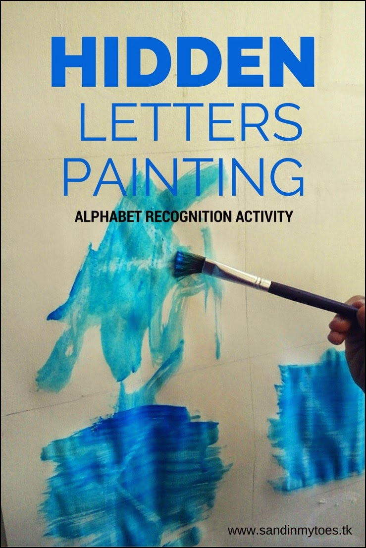 Hidden Letters Painting - An alphabet recognition activity for toddlers