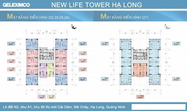 thiết kế chi tiết các căn hộ New Life Tower