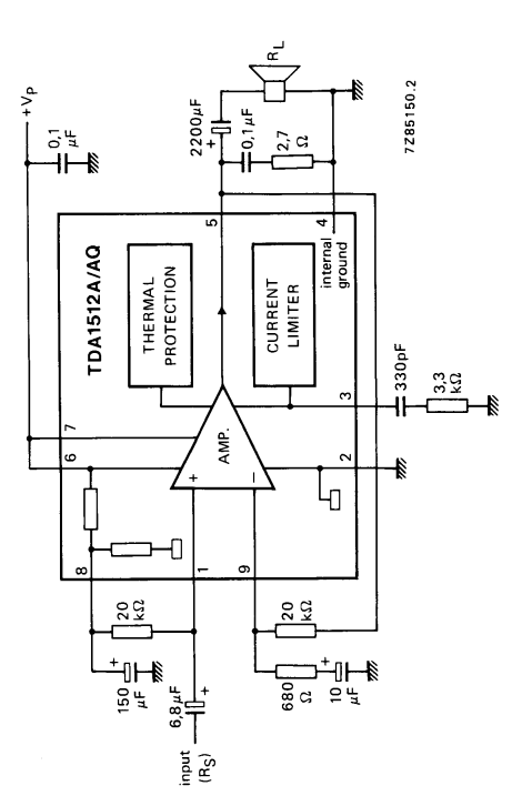 12 to 20 w audio power amplifier