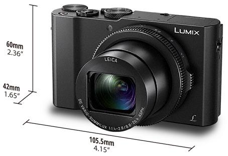 Габариты Panasonic Lumix LX15/LX10