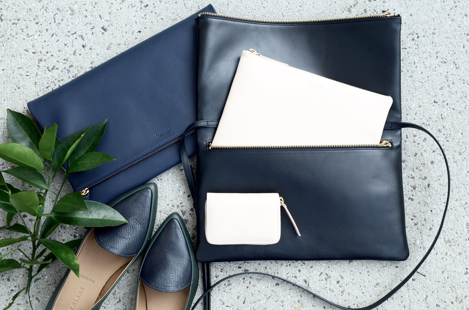 Everlane foldover crossbody foldover pouch mini zip wallet and pouch photos review