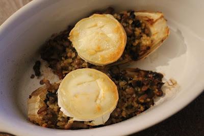 fromage de chèvre champignons