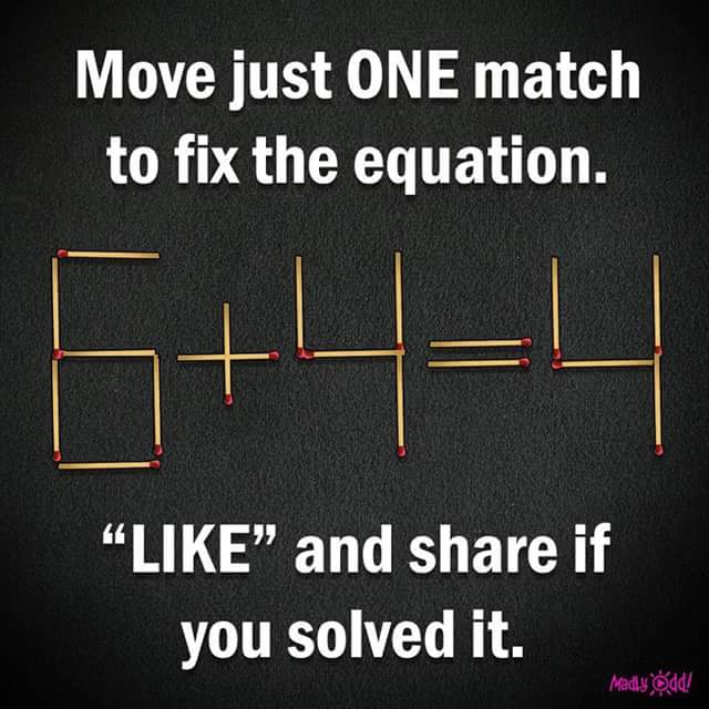 Move just one Match to fix the Question