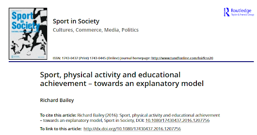 New article: Sport, physical activity and educational achievement