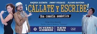Poster 2 Callate y Escribe (Comedia)