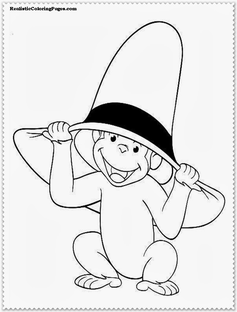 curious george coloring pages printable for kids