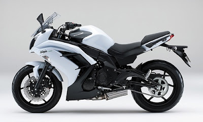 Kawasaki Ninja 400R white edition