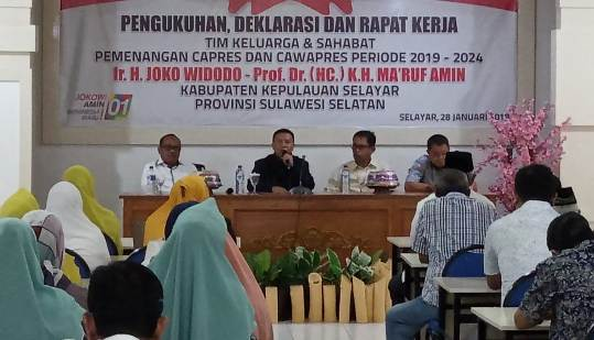 Keluarga Dan Kerabat KH. Ma'ruf Amin di Selayar, Siap Menangkan, Pasangan Jokowi - Ma'ruf