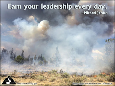 Earn your leadership every day. - Michael Jordan  [Photo credit: Dennis Lee/Klamath-Lake District/ODF]