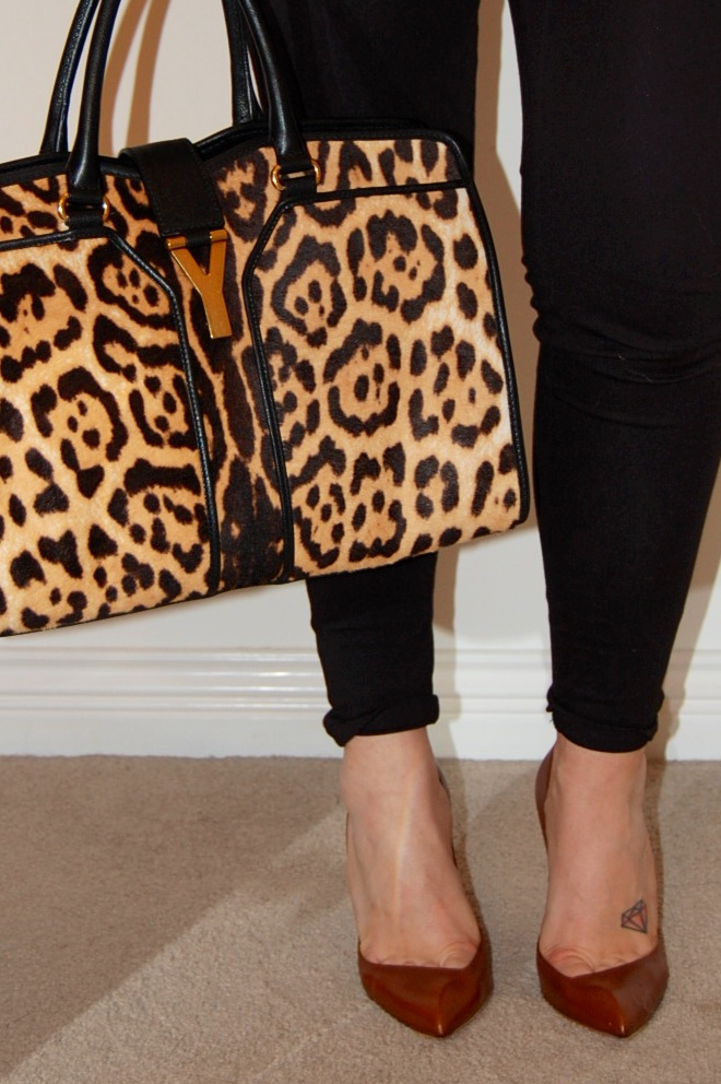 YSL Cabas Chyc tote and Christian Louboutin pumps