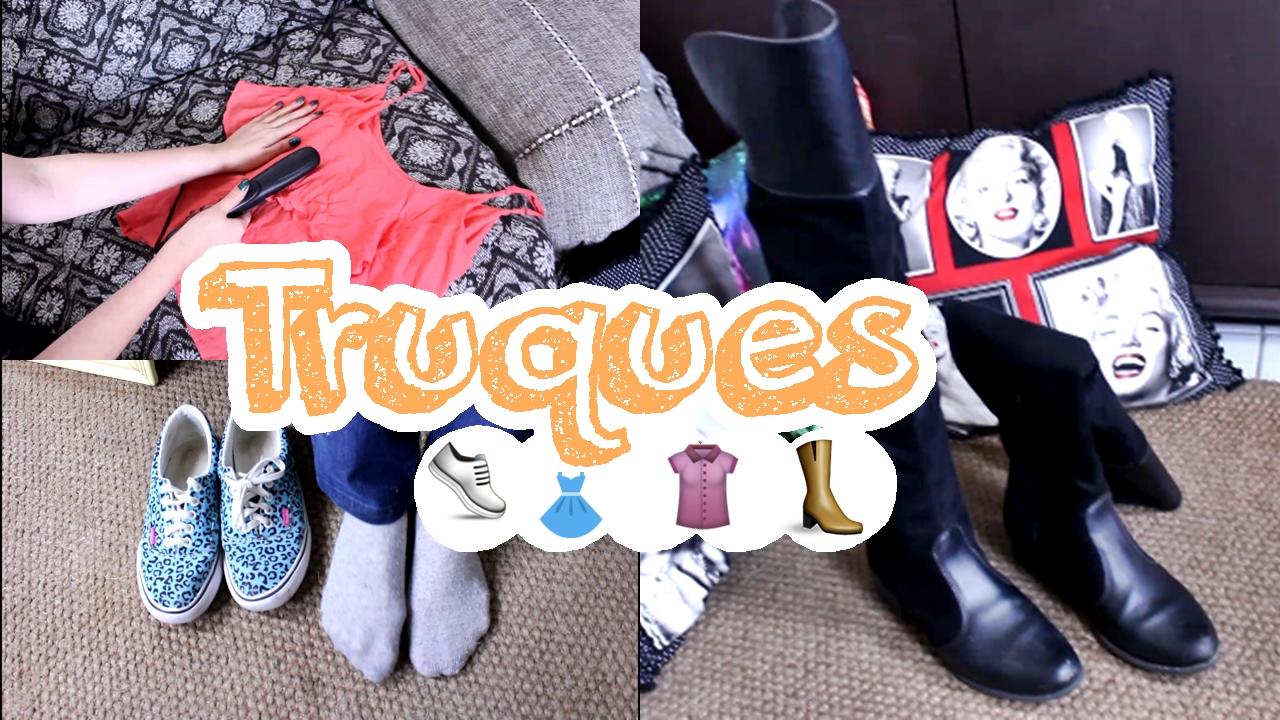 Truques com roupas e calçados
