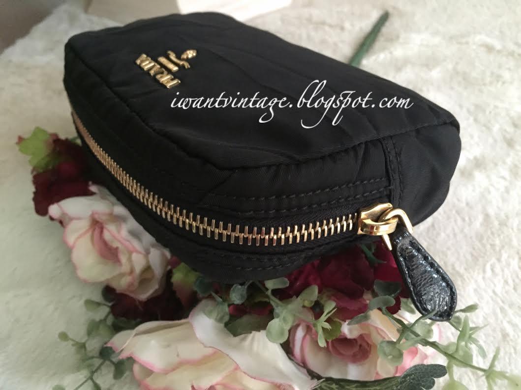 eeb8fcdc93a2 Prada Nylon Cosmetic Pouch-Black