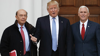 Wilbur Ross, Trump and Mike Pence