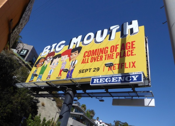 Big Mouth cut-out billboard
