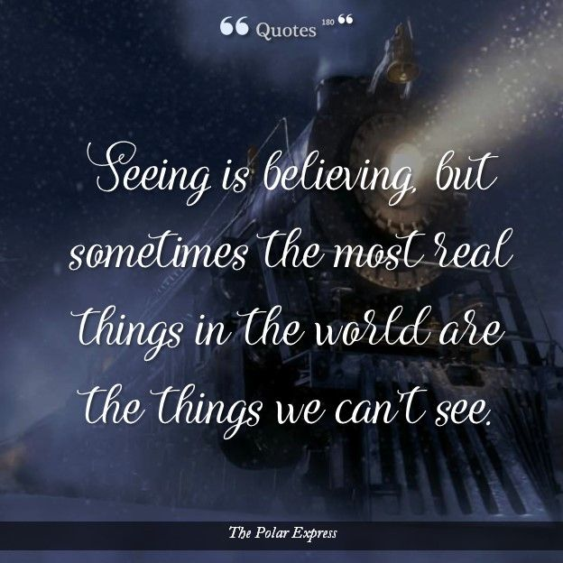 FILM QUOTES: THE POLAR EXPRESS