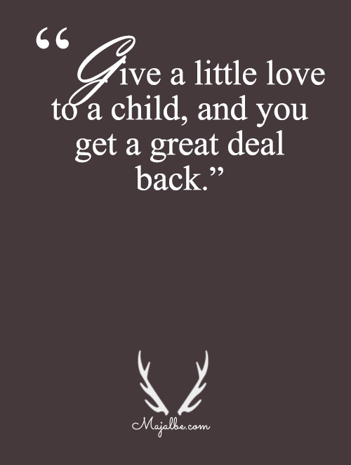 Give A Little To A Child