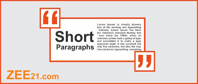Shorts Paragraphs