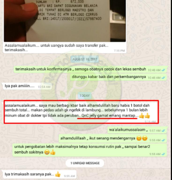 Testimoni Qnc Jelly Gamat Lambung