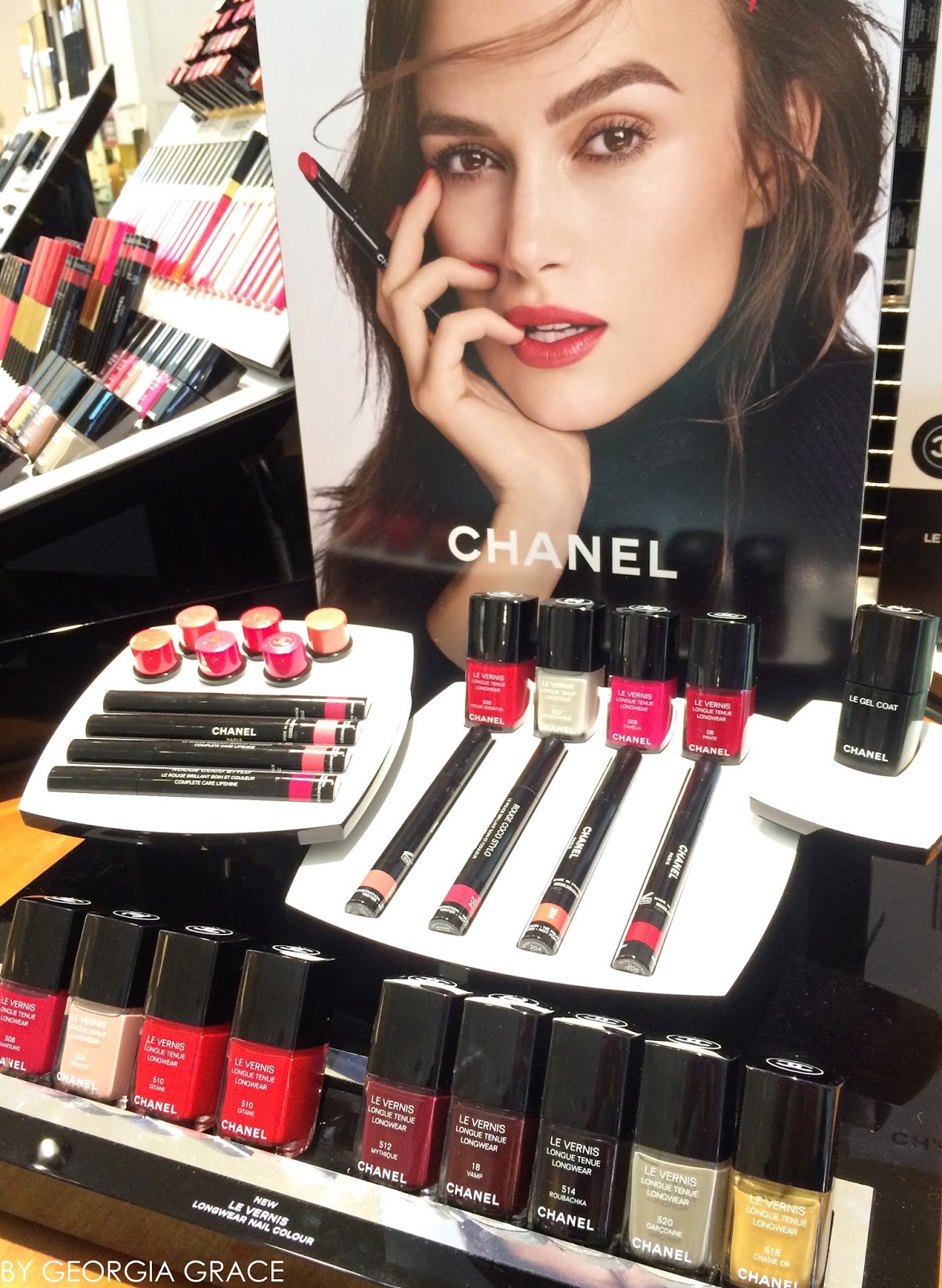 chanel new le vernis longwear nail polish swatches & review