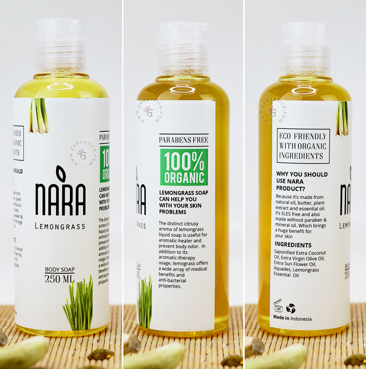 NARA Body Wash Lemongrass
