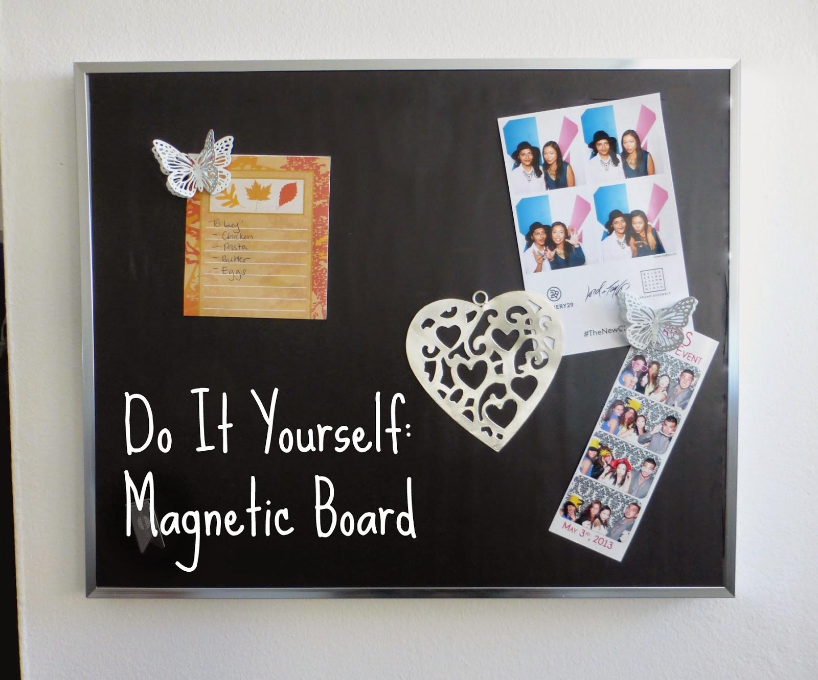 DIY Magnetic Board - La Vie en May - Petite Fashionista ...