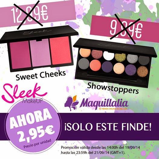 Rebajas en paletas Sleek en Maquillalia
