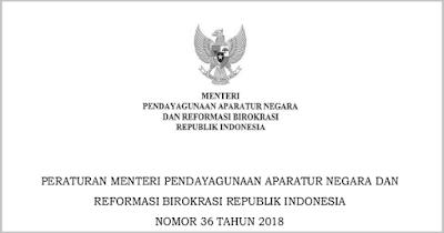 PERMENPAN RB NO 36 Tahun 2018 (Formasi dan Pelaksanaan Seleksi CPNS)