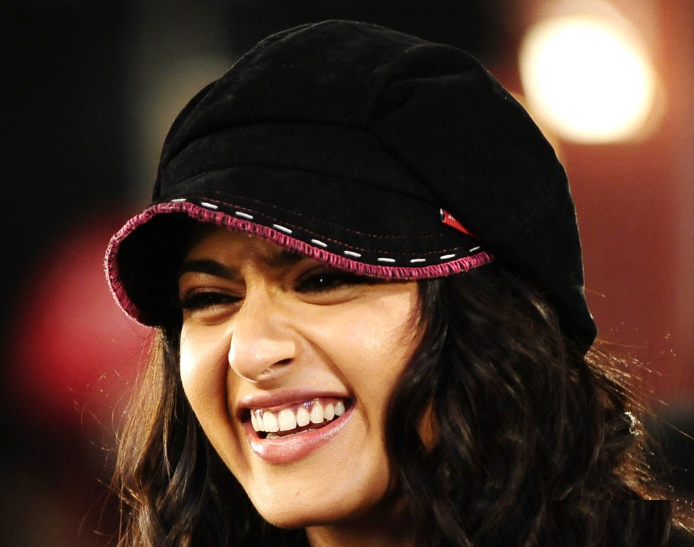 Anushka Shetty Unseen Smiling Face Close UP Photos With Cap