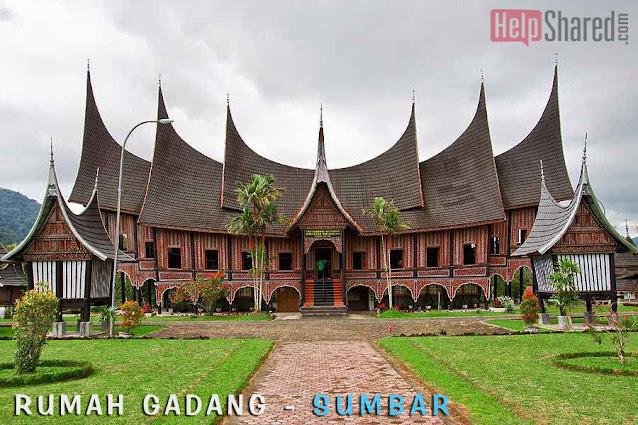 rumah adat gadang sumatera barat