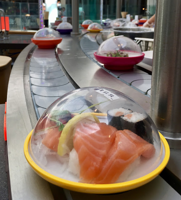 Yo! Sushi conveyer belt #review