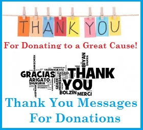 thank you messages donations