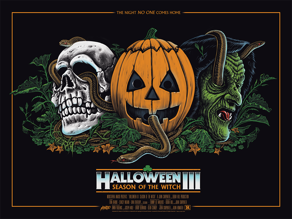 halloween iii season of the witch movie poster screen prints by ghoulish gary pullin x