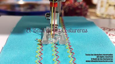 Puntadas decorativas con aguja doble o aguja gemela