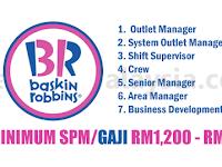 Baskin Robbins - Gaji RM1,200 - RM6,000