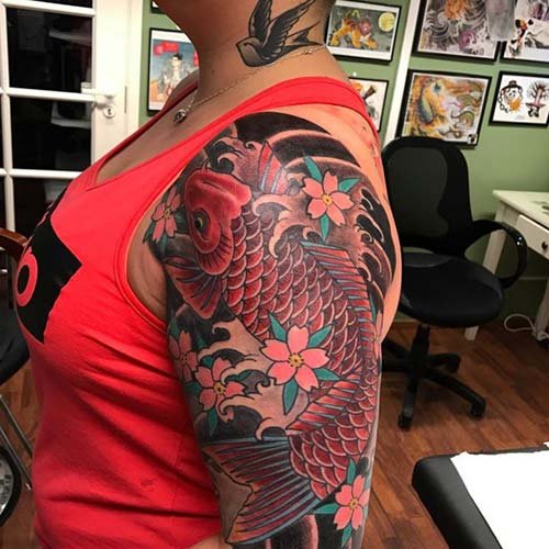 girly koi fish tattoos koi balığı dövmeleri
