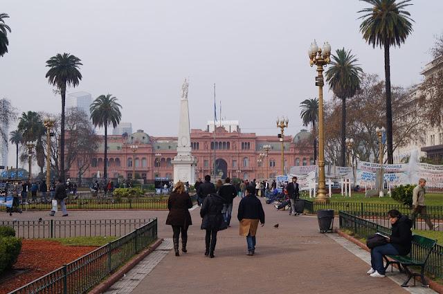 Casa Rosada, sede del gobierno argentino en Buenos Aires, Argentina.